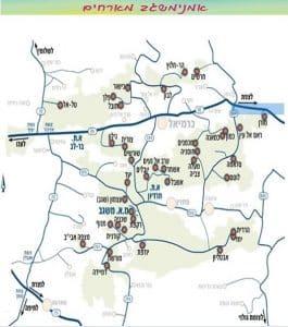 Map Misgav artists